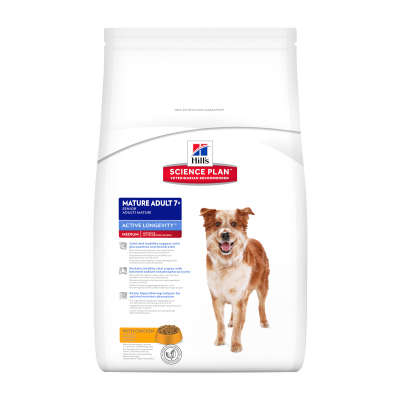 Hill's Science Plan Mature Adult 7+ Active Longevity Medium with Chicken 14kg