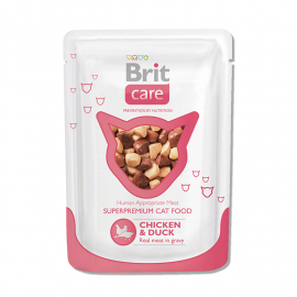 Brit Care Cat pouch Курица и утка 80 г